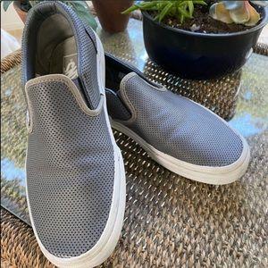 Grey leather vans. Size 8